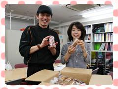 被災地(東北大学)にお菓子を贈ることになりました