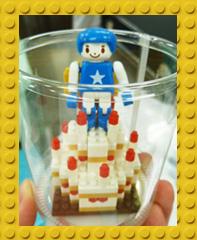 LEGOブロックで作ったケーキ