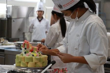 ケーキ 仕上げ